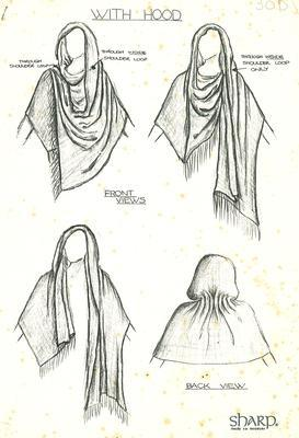 Kid mohair cape concept drawing