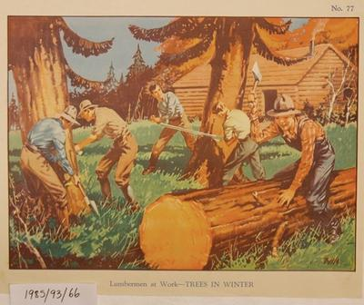 No.77 Lumbermen at Work - Trees in Winter