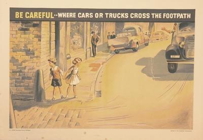 Be Careful ... Where Cars or Trucks Cross the Footpath