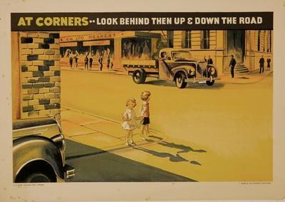 At Corners ... Look Behind Then Up & Down The Road