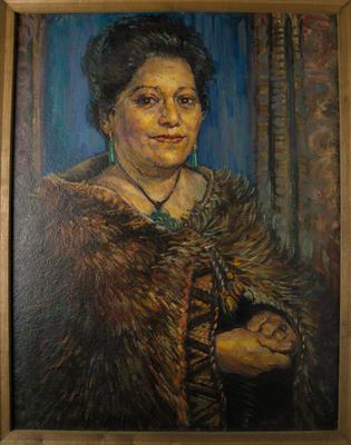 Portrait Of Maori Queen Dame Te Atairangikaahu