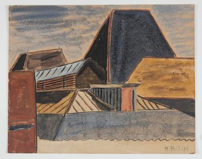 Untitled [Study of Rooftops]