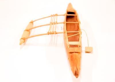 Model of canoe