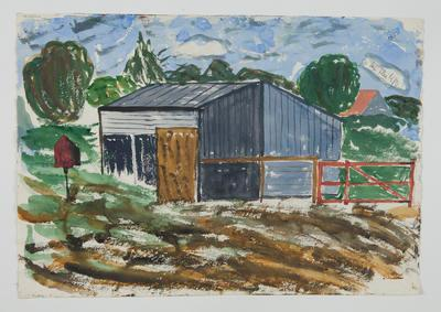 Untitled [Shed in Landscape]; Margot Philips; 1987/41/26a