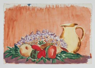 Untitled [Still Life: Fruit, Lilacs and Jug]; Margot Philips; 1987/41/26b