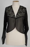 Ladies Black Silk and Lace Blouse