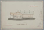 [Rongotea Co-op Dairy Co. Ltd. Rongotea Butter Factory] Drawing No.4. Section & Elevation at A-B