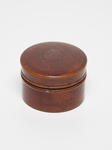Container - Small Round   Bamboo Wood & Lacquer Finish