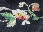Black embroidered smoking cap