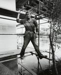 Andrew, contract worker, repairing undercarriage of the Fairfield Bridge, Hamilton