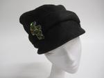 Black cap-shaped hat