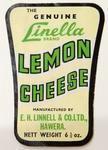 Label, Linella Lemon Cheese
