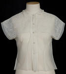 Blouse - Ladies White Handmade Blouse
