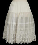 Petticoat - Ladies Half White and Cream Petticoat