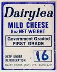 Label, Dairylea mild cheese
