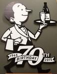 Sign – Willie the Waiter's 70th Birthday