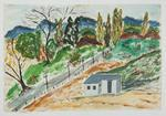Untitled [House on Hilly Country Road]